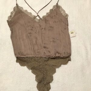 Free People bodysuit- Taupe
